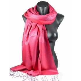 Pashmina en soie et viscose rose indien
