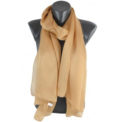e514cf22521 Echarpe mousseline de soie beige