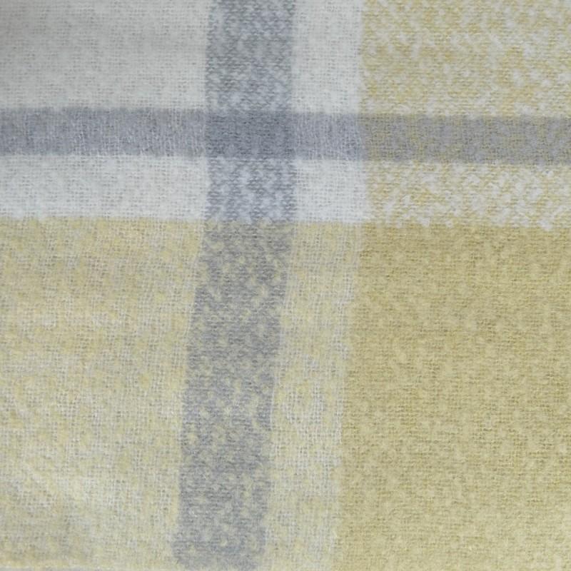 Grosse écharpe rayée jaune-gris