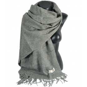 Châle en laine gris