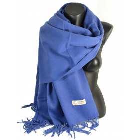 Châle en laine bleu