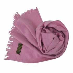 Petite écharpe en  cachemire NZO SBARBERI rose chiné