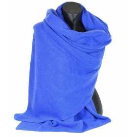 Très grand châle en cachemire bleu électrique