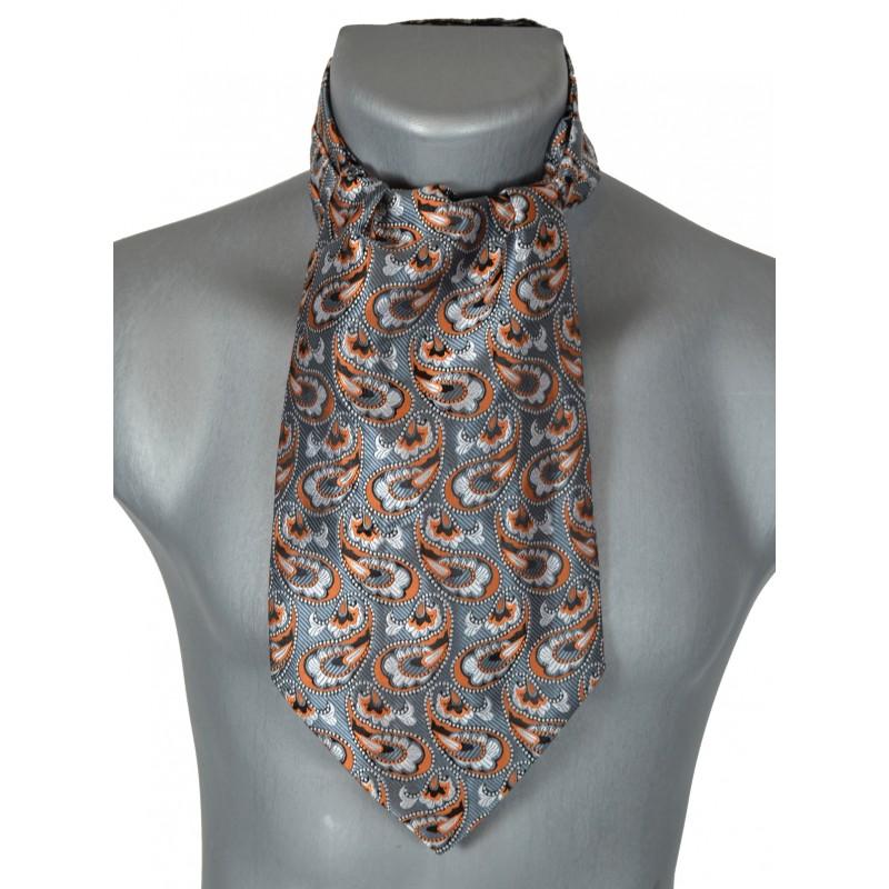 foulard ascot gris