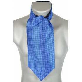 Foulard ascot bleu saphir