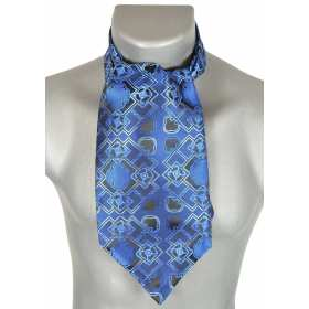 Foulard ascot bleu électrique
