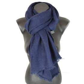 Echarpe légère acrylique bleu marine
