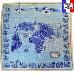 Foulard en soie Air France Mappemonde