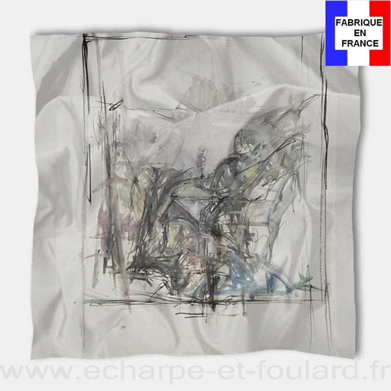 Foulard en soie Giacometti, Paysage à Stampa