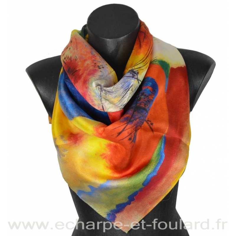 Foulard en soie Kandinsky, Black lines