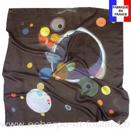 Foulard en soie Kandinsky, Several Circles
