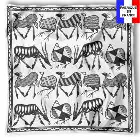 Foulard en soie Carré de soie Korhogo