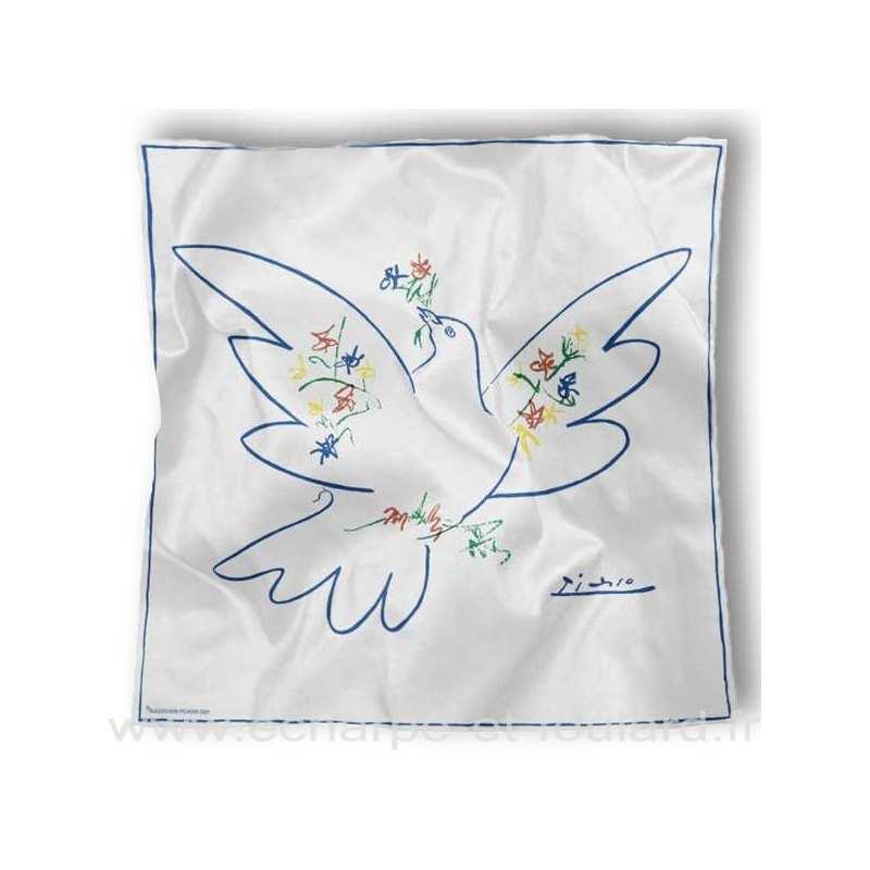 Foulard en soie Picasso, Colombe
