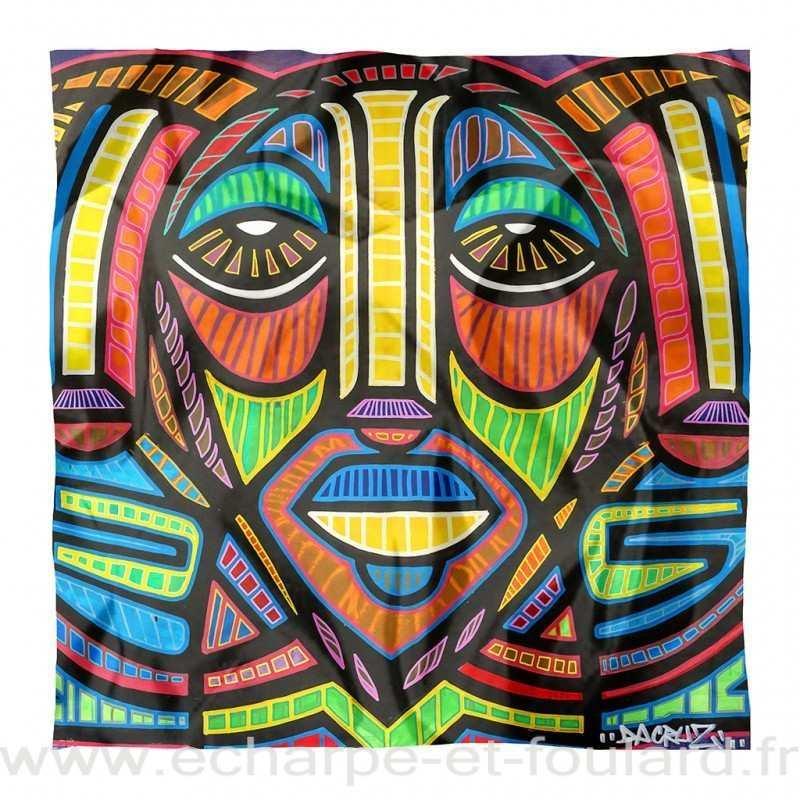 Foulard en soie Da Cruz, Meditation