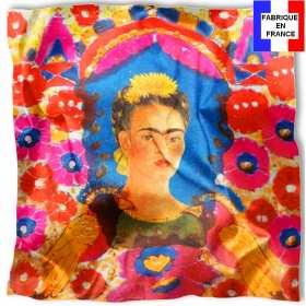 Foulard en soie Kahlo, Le portrait