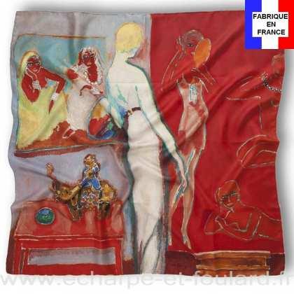 Foulard en soie Van Dongen, Amusement