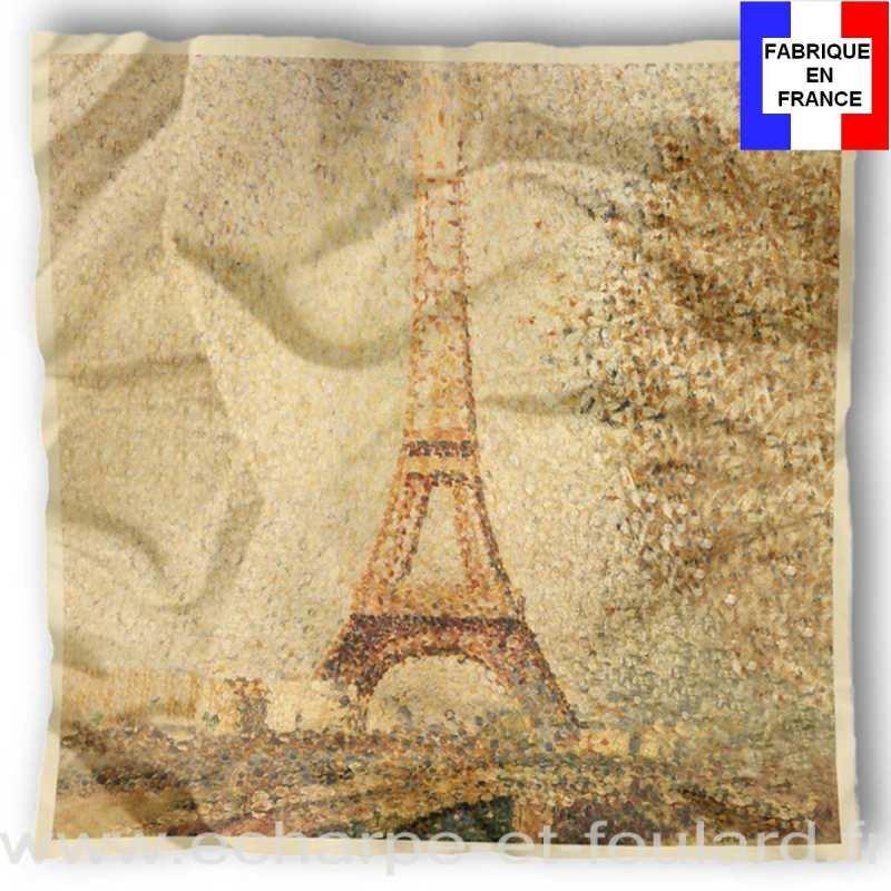 Foulard en soie Seurat, Tour Eiffel