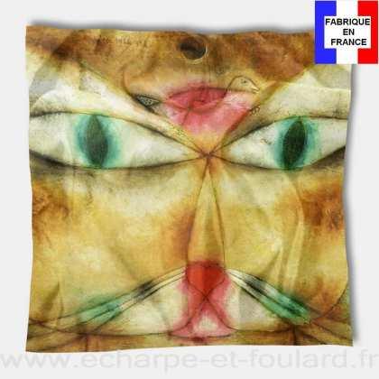 Foulard en soie Klee, Cat and Bird 1928