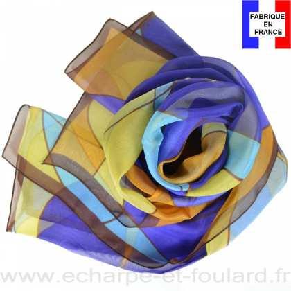 Echarpe soie Mucha - Chocolat 969d64d9818