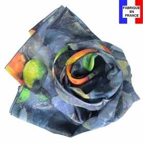 Echarpe soie Cézanne - Nature morte compotier