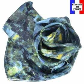 Echarpe soie Cézanne - Paysage Bleu