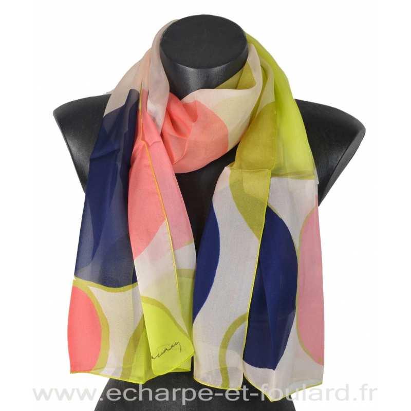 Echarpe soie Delaunay S. - Ronds