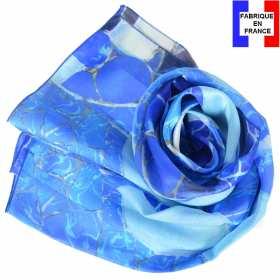 Echarpe soie Gaudi - Grand Bleu