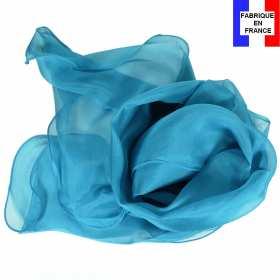Foulard soie canard bords ondulés fabriqué en France