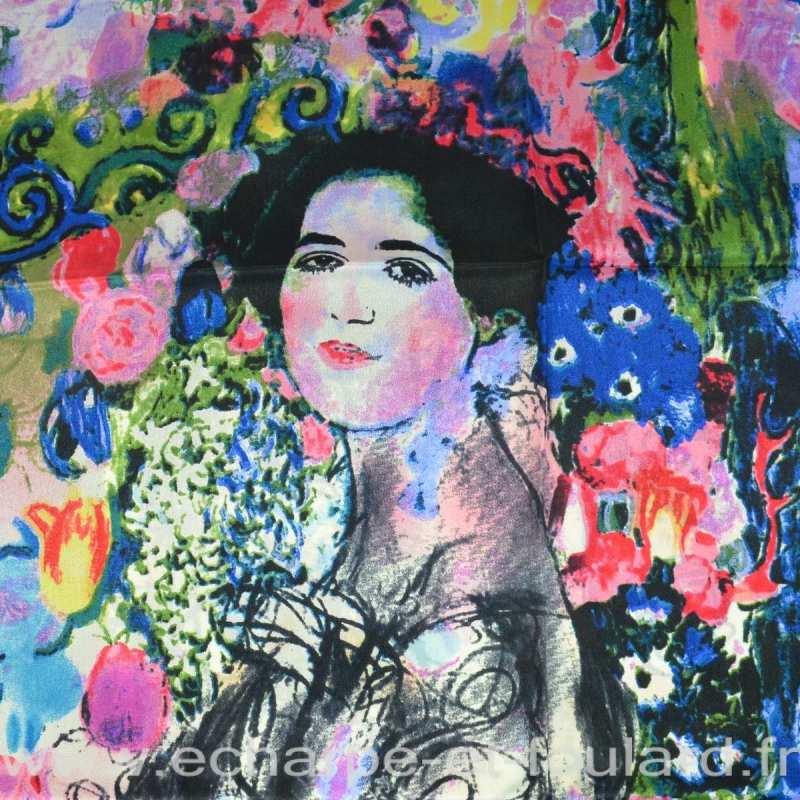 Echarpe en soie Portrait Ria Munk Klimt
