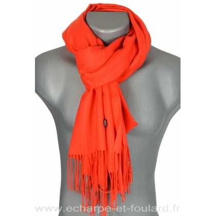 Echarpe très douce cachemire-laine orange 0196adc143f