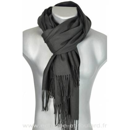 3d9fb52bc09 Echarpe très douce cachemire-laine noire