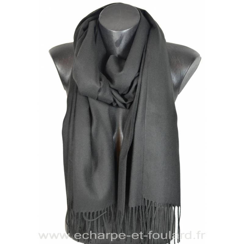 Echarpe très douce cachemire noire