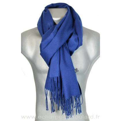 Echarpe très douce cachemire bleu marine