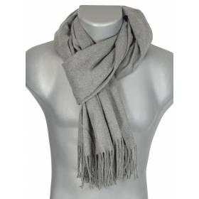 Echarpe très douce cachemire-laine grise