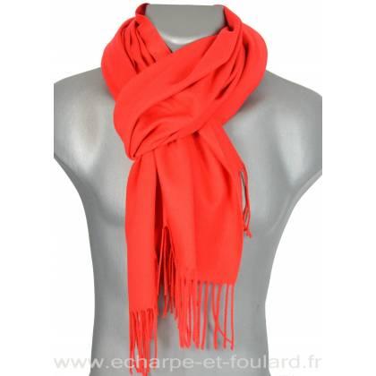 Echarpe très douce cachemire-laine rouge 1122edaa5af