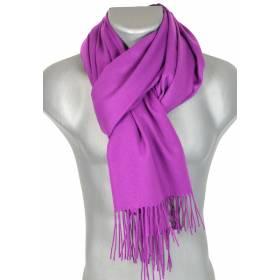 Echarpe très douce cachemire-laine violette