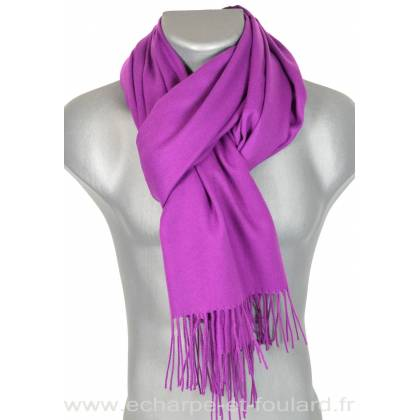 64ffa07212d6 Echarpe très douce cachemire-laine violette