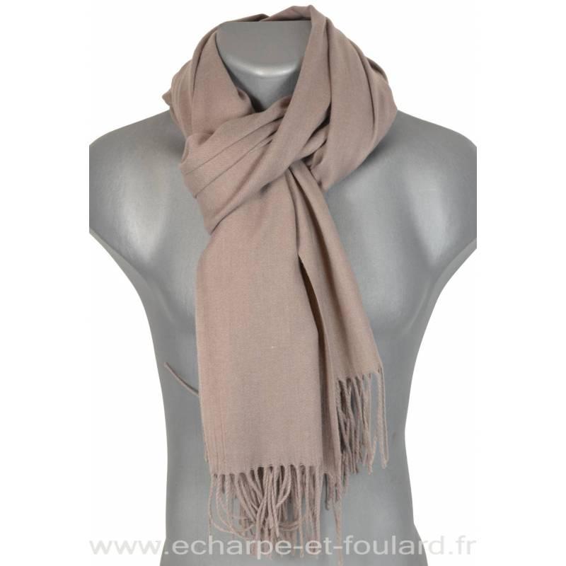 Echarpe très douce cachemire-laine beige
