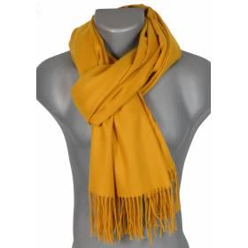 Echarpe très douce cachemire-laine jaune