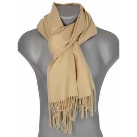 Echarpe très douce cachemire-laine beige clair