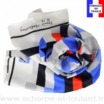 Echarpe soie Delaunay - Rectangles