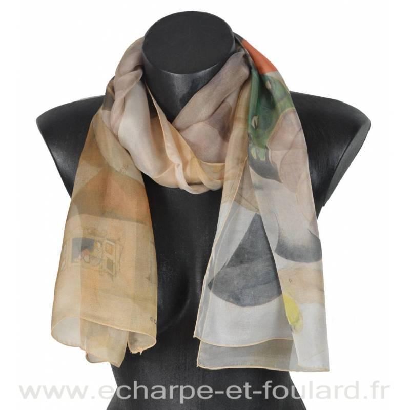 Echarpe soie Chagall - La Musique