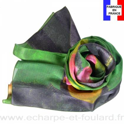 Echarpe soie Gauguin - Scène Tahitienne