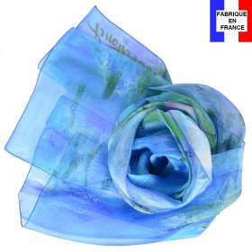 Echarpe soie Monet - Nymphéas reflets