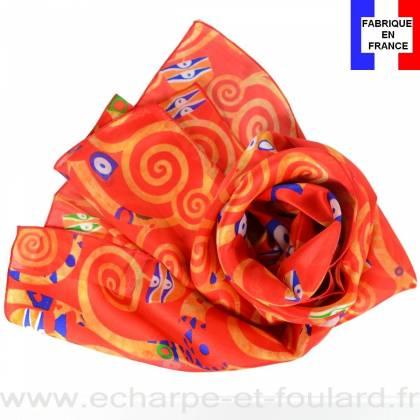 Echarpe soie Klimt - Arbre de Vie