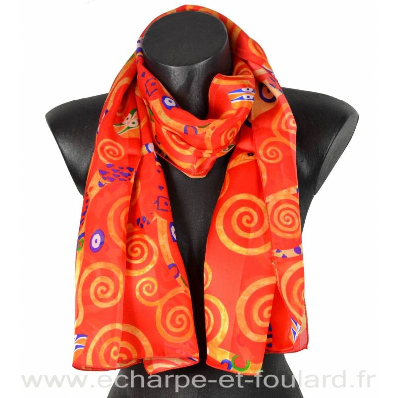 c7e7097ef6ea Echarpe soie Klimt - Arbre de Vie
