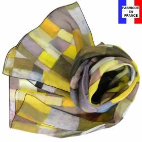 Echarpe soie Klee - Architektur
