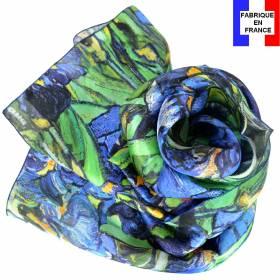 Echarpe soie Van Gogh - Les Iris