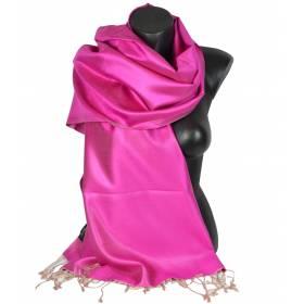 Etole en soie rose et beige