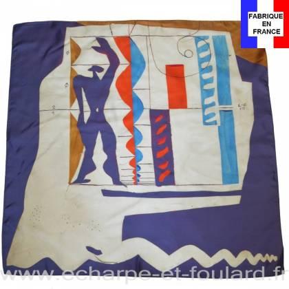 Foulard en soie Le corbusier, Modulor